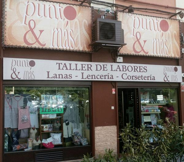 fachada tienda de lanas punto y más